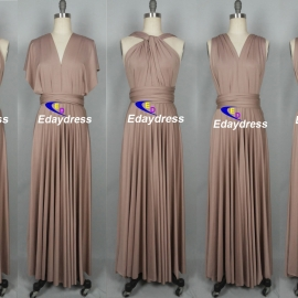 Maxi full length bridesmaid infinity dress convertible wrap dress multiway long dresses taupe infinity dresses bridesmaid dresses