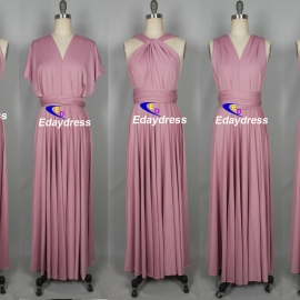 Maxi full length bridesmaid infinity dress convertible wrap dress multi way long dresses light polignac infinity dresses