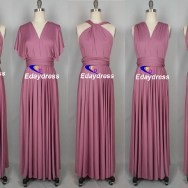 Maxi full length bridesmaid infinity dress convertible wrap dress multi way long dresses bordeax infinity dress