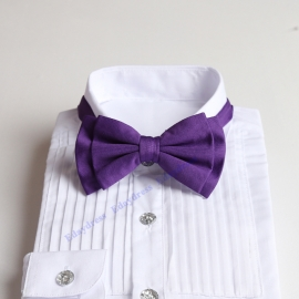 Bow ties for men and kids length adjustable bow ties wedding bow ties darker purple bow ties for any occasion