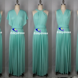 Maxi full length bridesmaid infinity dress convertible wrap dress multiway long dresses ice green infinity dresses