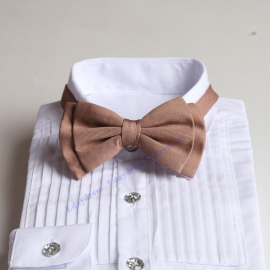 Taupe bow ties for men and kids length adjustable bow ties wedding bow ties bow ties for any occasion
