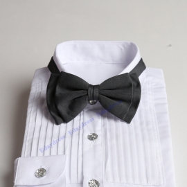 Bow ties for men and kids length adjustable bow ties wedding bow ties charcoal gray ties for any occasion