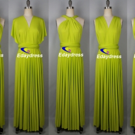 Maxi full length bridesmaid infinity dress convertible wrap dress multiway long dresses limeade infinity dresses