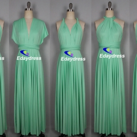 Maxi full length bridesmaid infinity dress convertible wrap dress multi way long dresses mint green infinity dress