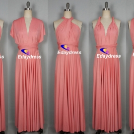 Maxi full length bridesmaid infinity dress convertible wrap dress multi way long dresses blush infinity dress
