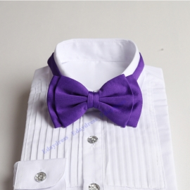 Bow ties for men and kids length adjustable bow ties wedding bow ties bright purple bow ties for any occasion
