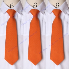Men ties men ties with hanky option men ties for wedding party solid orange men ties
