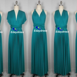Maxi full length bridesmaid infinity dress convertible wrap dress multi way long dresses teal infinity dress