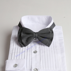 Bow ties for men and kids length adjustable bow ties wedding bow ties dark gray bow ties for any occasion