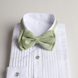 Bow ties for men and kids length adjustable bow ties wedding bow ties light olive ties for any occasion