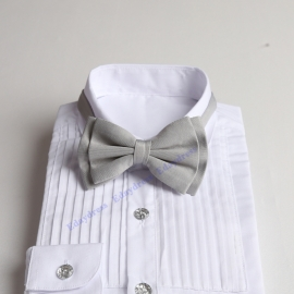 Bow ties for men and kids length adjustable bow ties wedding bow ties silver bow ties for any occasion