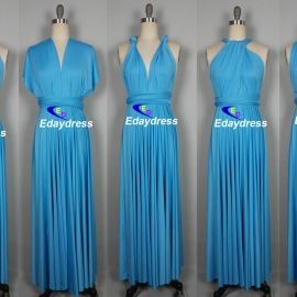 Maxi full length bridesmaid infinity dress convertible wrap dress multi way long dresses turquoise infinity dress