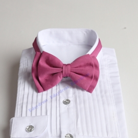 Bow ties for men and kids length adjustable bow ties wedding bow ties rouge pink ties for any occasion