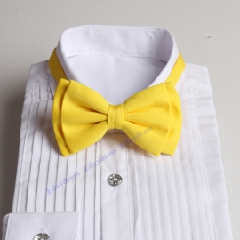 Bow ties for men and kids length adjustable bow ties wedding bow ties yellow bow ties for any occasion