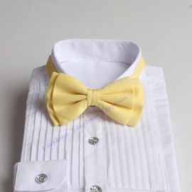 Bow ties for men and kids length adjustable bow ties wedding bow ties pastel yellow bow ties for any occasion