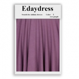 Fabric swatch for infinity dresses infinity bridesmaid dresses for ties and bows color l rose purple