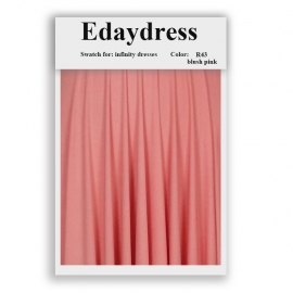 Fabric swatch for infinity dresses infinity bridesmaid dresses for ties and bows color r43 blush pink