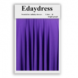 Fabric swatch for infinity dresses infinity bridesmaid dresses for ties and bows color h bright purple