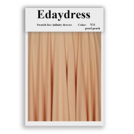 Fabric swatch for infinity dresses infinity bridesmaid dresses for ties and bows color y11 pearl peach