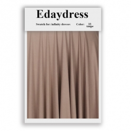 Fabric swatch for infinity dresses infinity bridesmaid dresses for ties and bows color 33 taupe