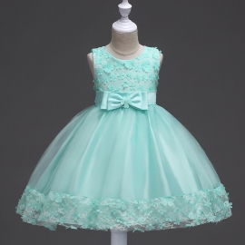 Full length flower girls dresses long flower dresses flower girls dresses for wedding dresses daily life girl dresses