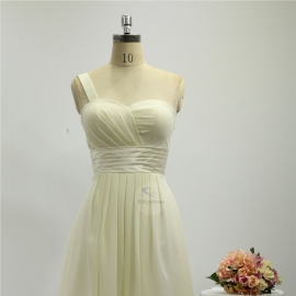 One shoulder strap bridesmaid dresses dresses knee length chiffon bridesmaid dresses ivory pleating bridesmaid dresses