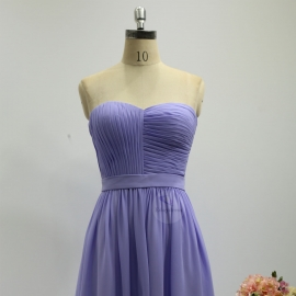 A line style bridesmaid dresses sweetheart dresses knee length chiffon bridesmaid dresses lilac lavender pleating bridesmaid dresses
