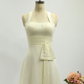 Two shoulder straps bridesmaid dresses dresses short knee length chiffon bridesmaid dresses ivory pleating bridesmaid dresses