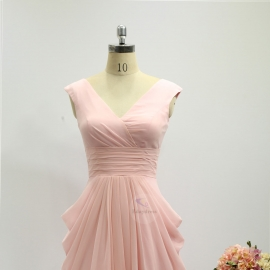 Two shoulder straps bridesmaid dresses dresses short knee length chiffon bridesmaid dresses pink olive pleating bridesmaid dresses