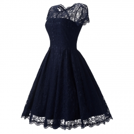 High quality elegant lace dress party dress daily dress occasion dress with several colors options knee length dresses