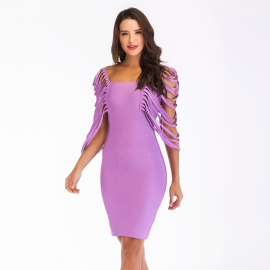Derk lilac bandage dress party bandage dress club bandage dress