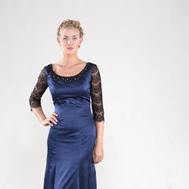 Rossi beaded gown