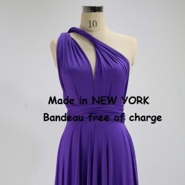 Floor length long ball gown maxi dress party dress bridesmaid dress wedding dresses convertible dress wrapping dress bright purple infinity dresses