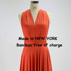 Floor length long ball gown maxi dress party dress bridesmaid dress wedding dresses convertible dress wrapping dress darker coral infinity dress