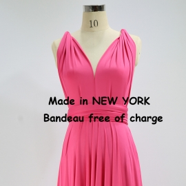Floor length bridesmaid dress convertible dress party dresses wedding dress infinity bridesmaid dress grass green infinity dress hot pink wrap dress